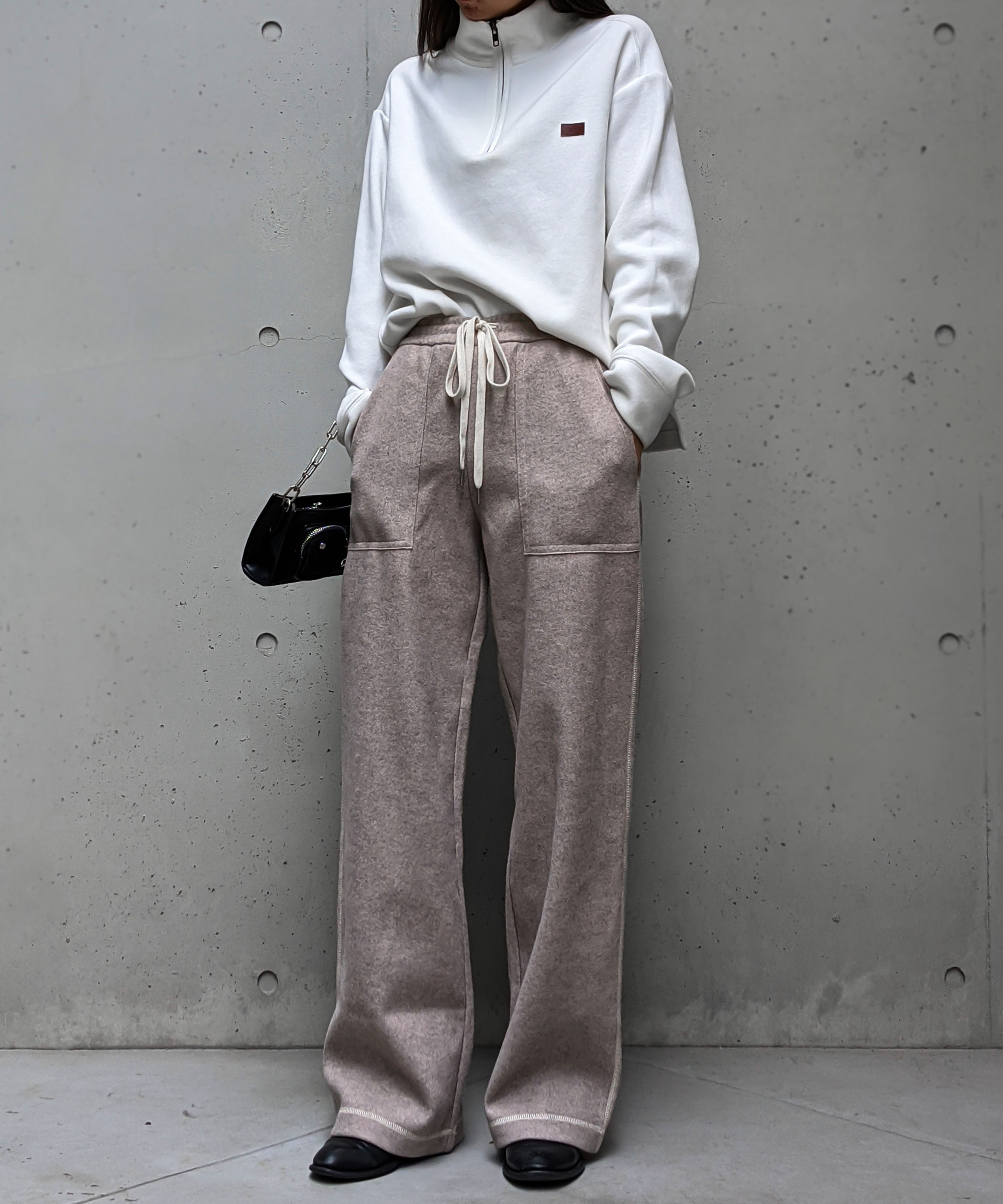 Stitch color relax pants