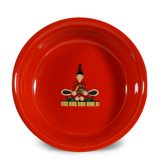 手塩皿4.0洗朱 天神様(36)