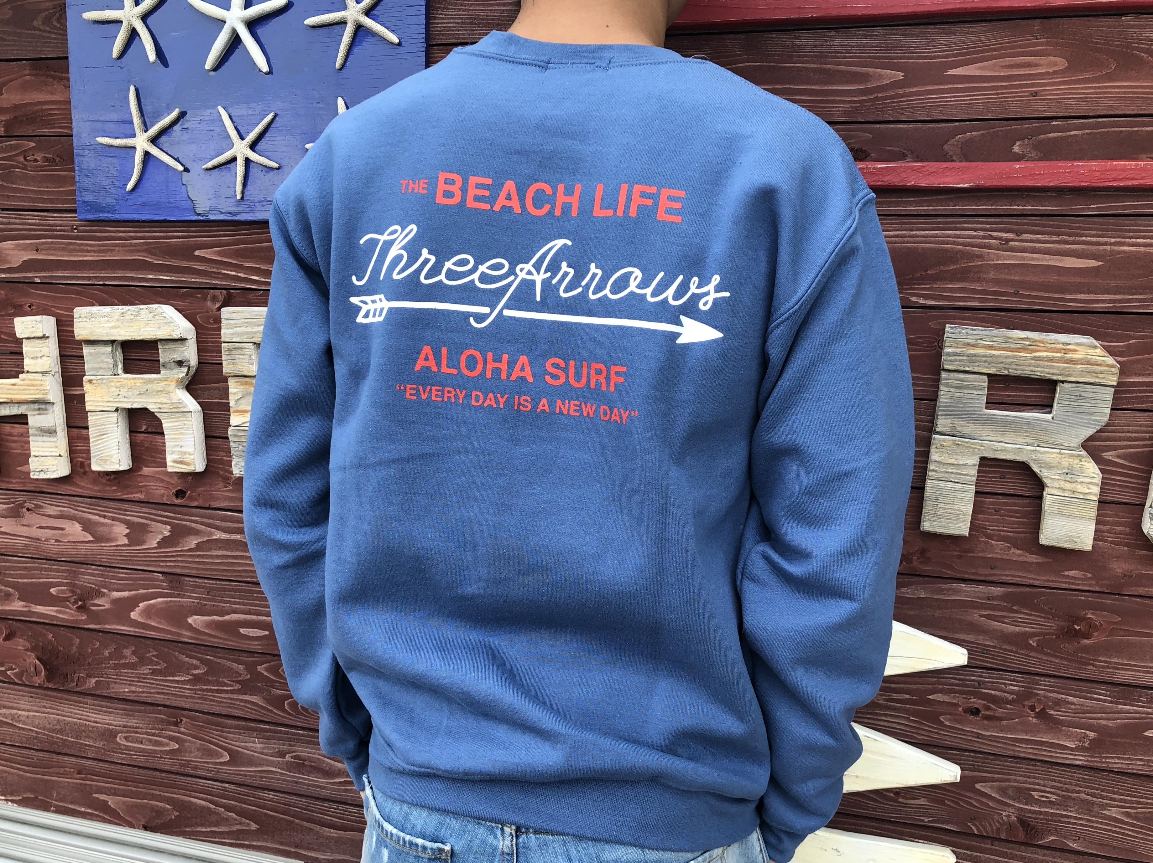 THE BEACH LIFE スウェット(indigo blue)