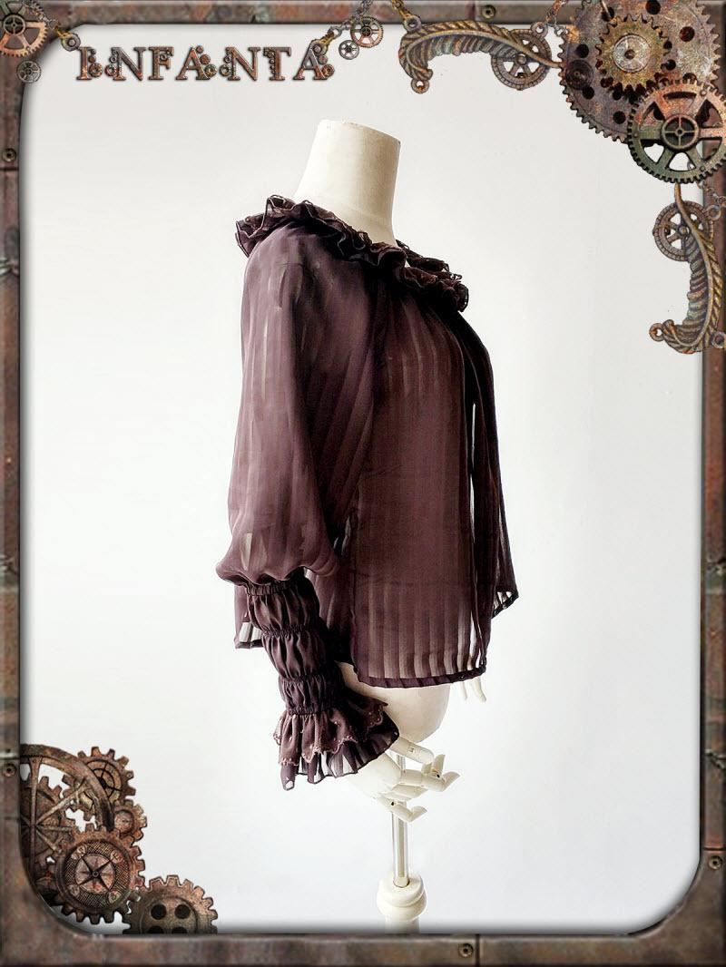 Infanta  - アンティークメカニカルドール -  Unicolor Lolitaブラウス