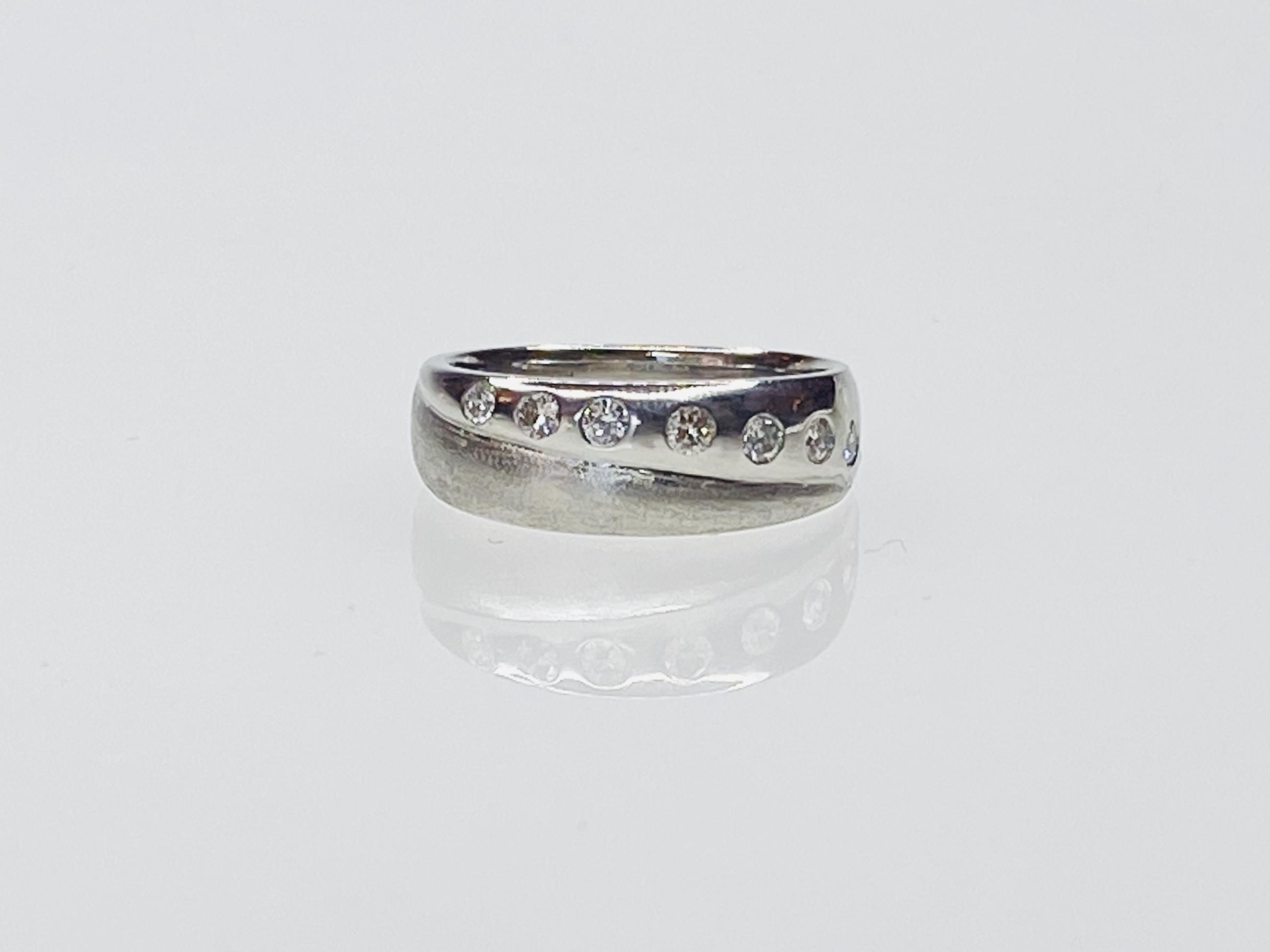 K18 WG 0.25ct ダイヤモンドリング ○