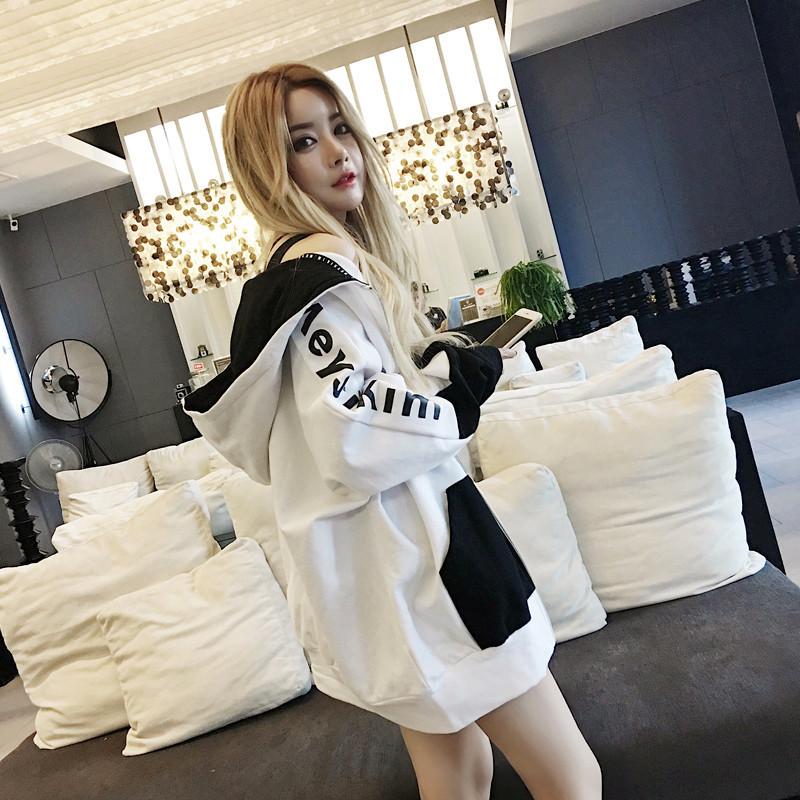 【outer】人気ファッション配色フード付きジャケット22421208