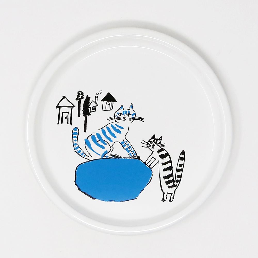 猫皿(トラネコボンボンほうろう給食パン皿)