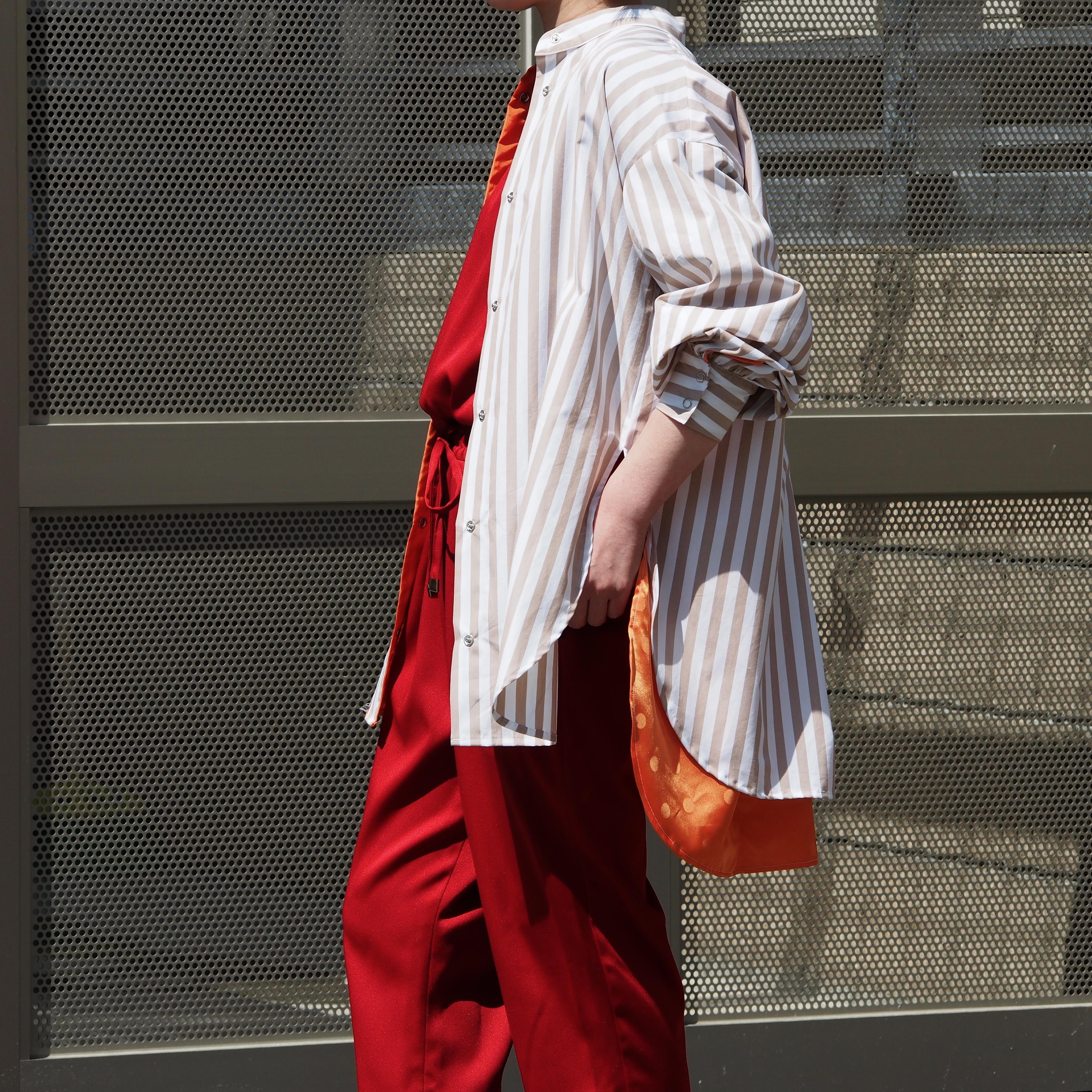 【sandglass】transform shirt(beige) / 【サンドグラス】トランスフォーム シャツ(ベージュ)