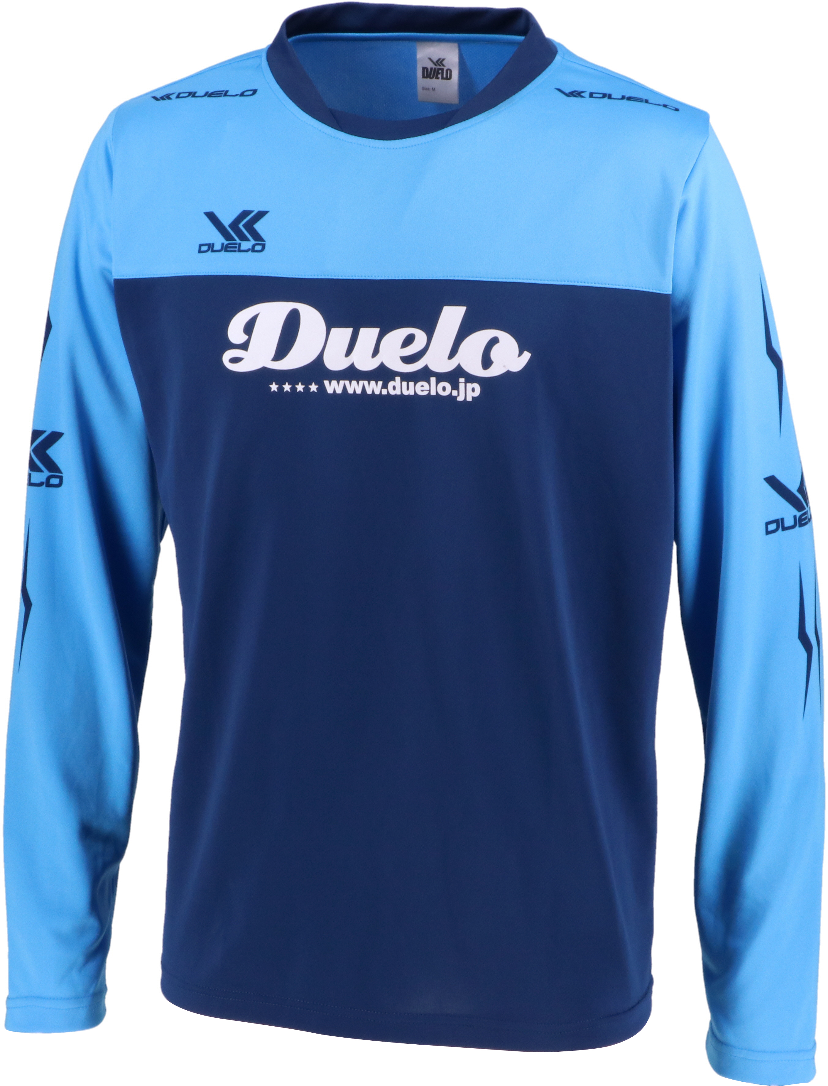 19020 Duelo Logo Long Practice Shirt  NVY/TRQ