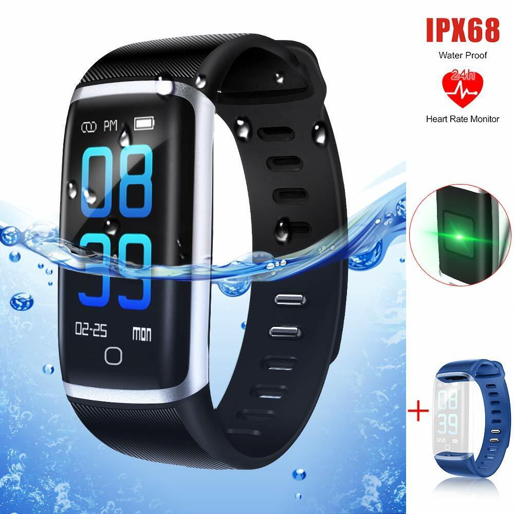531cbf102c ... アプリ通知 iphone/Android 日本語対応 日本語説明書. 【最新版】スマートウォッチ IP68完全防水 Thustar  スマートブレスレット 血圧計 心拍計