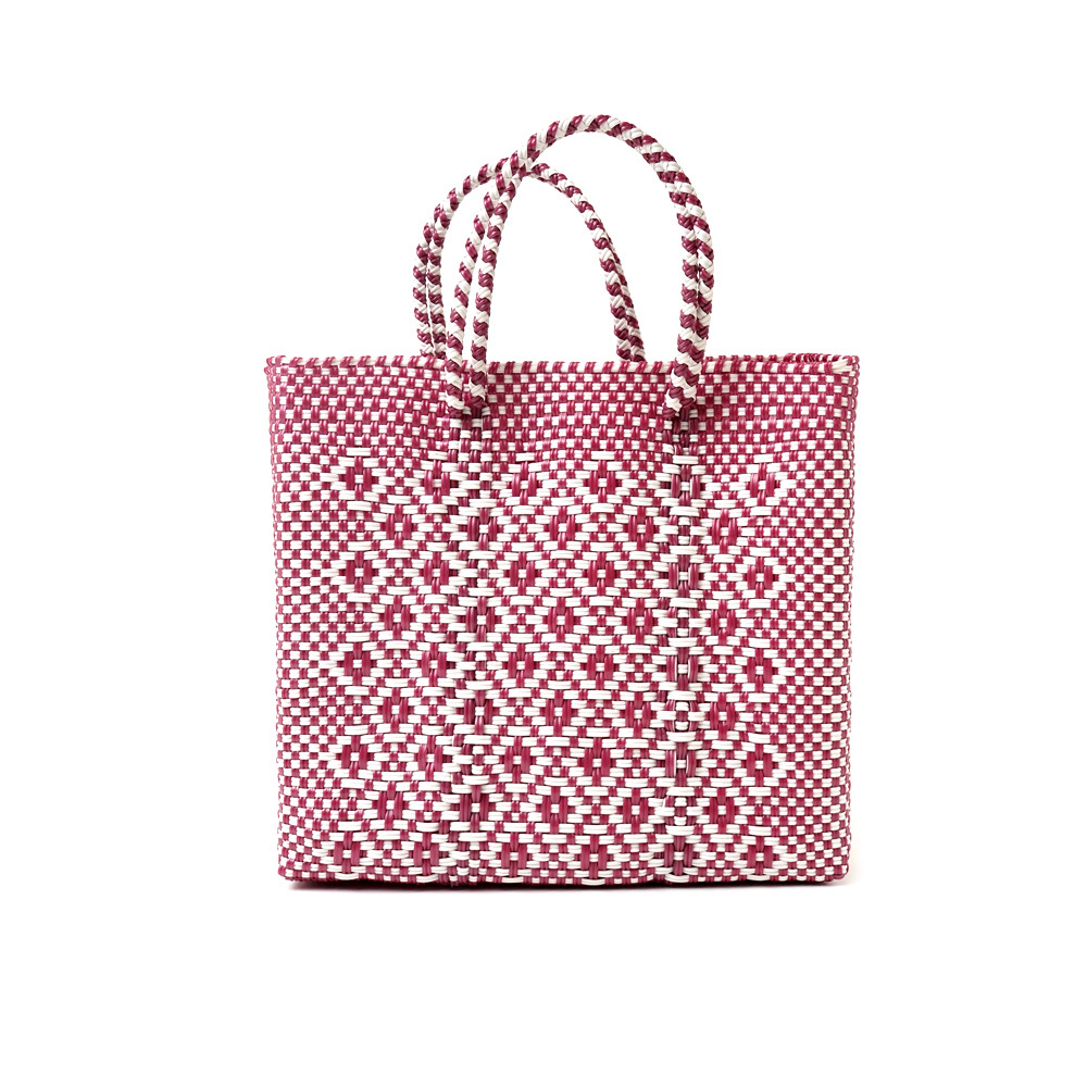 MERCADO BAG ROMBO METALIC - Metalic Pink x White(S)