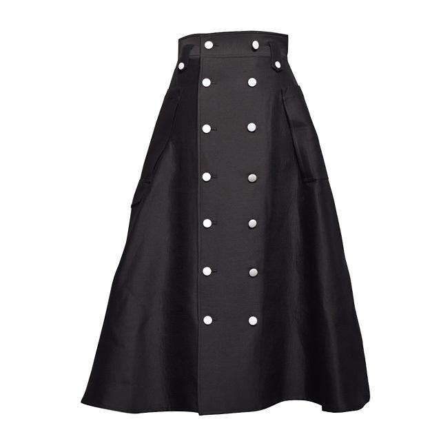 TAGE / フレアマキシスカート / Black