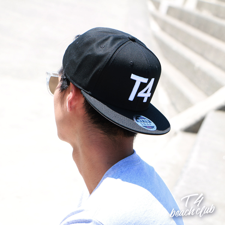 【TF004】T4 3D LOGO FLAT CAP