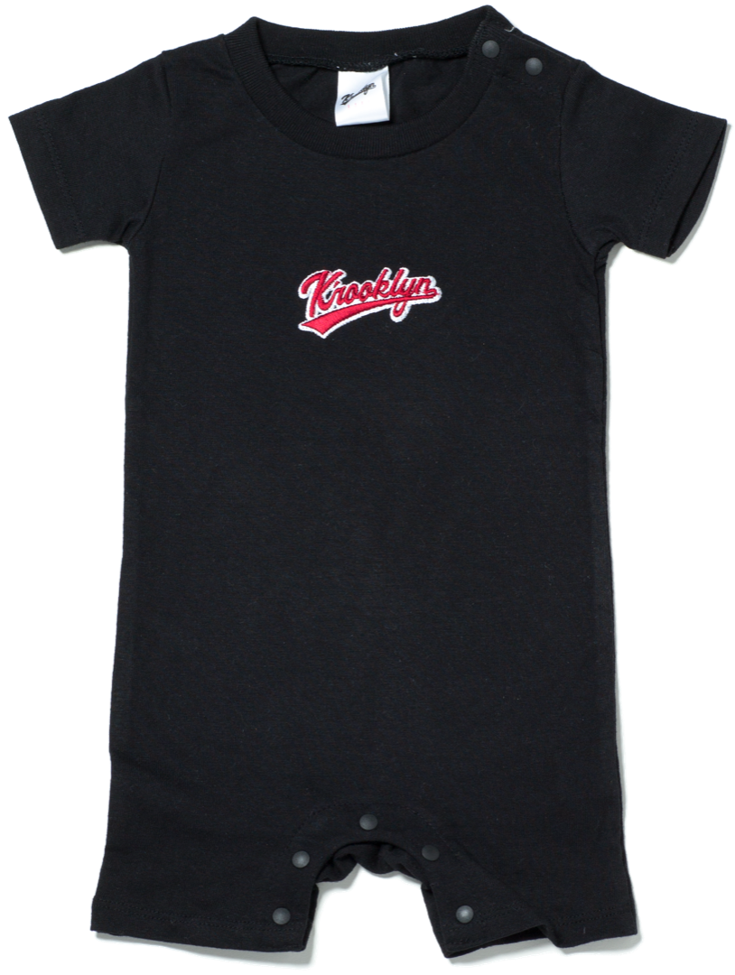 K'rooklyn Logo Baby Rompers - Navy