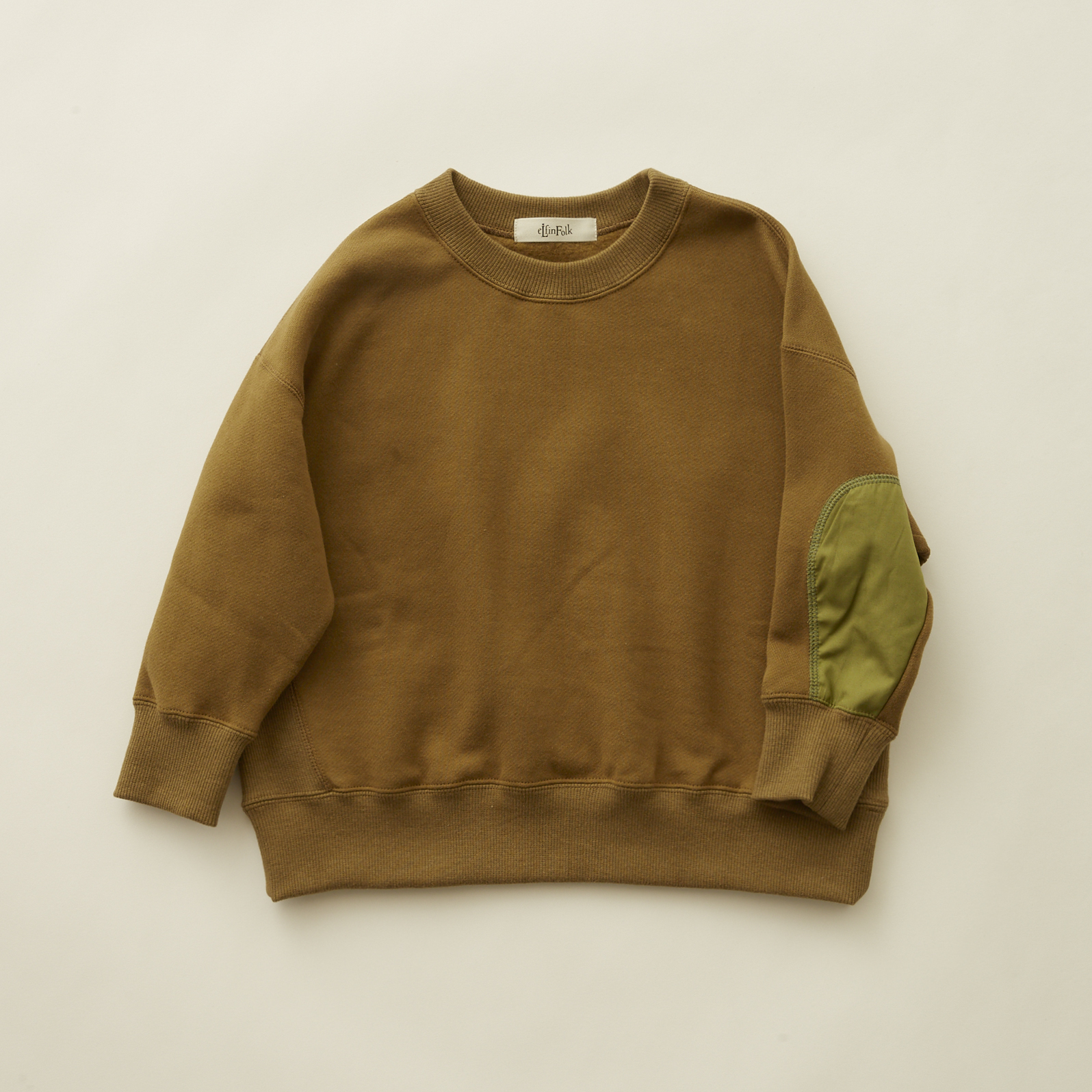 《eLfinFolk 2020AW》big sweat shirts / olive / 110-130cm