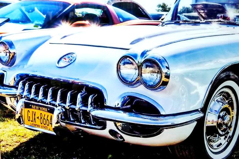 品番0084 新品 ガラスア―ト 9008 『Chevrolet Colvette シボレー コルベット』 壁飾り 飾り板 アメリカン雑貨