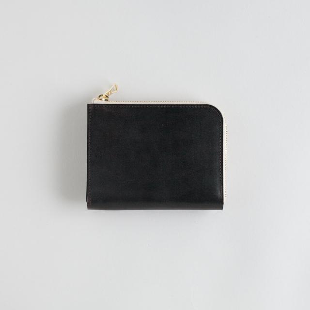 革の財布S ブライドル チョコ