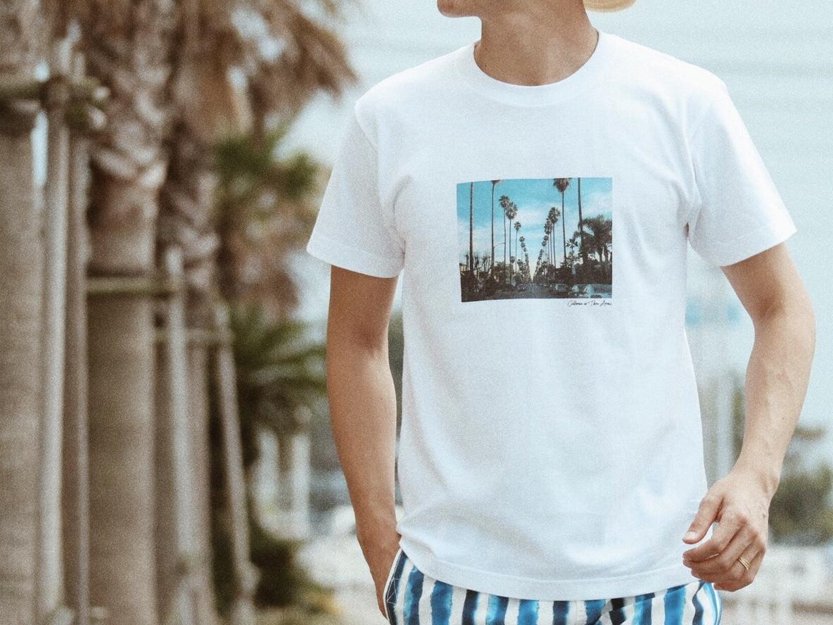 Beach town Tシャツ(white)