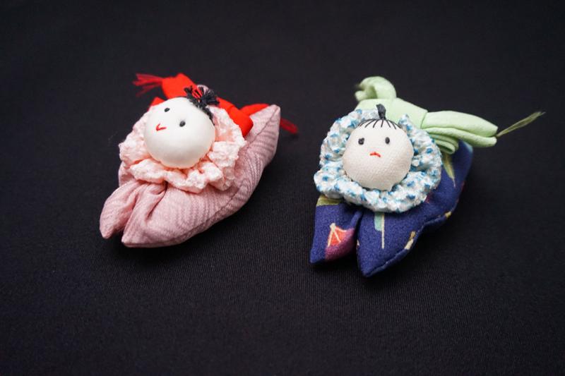 着物、和服の古布人形・クリップ「赤ちゃん」 - 画像2