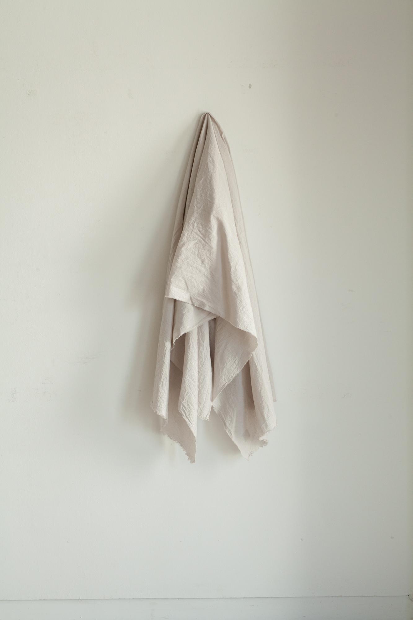 01411-1 cotton/linen stole / graybeige