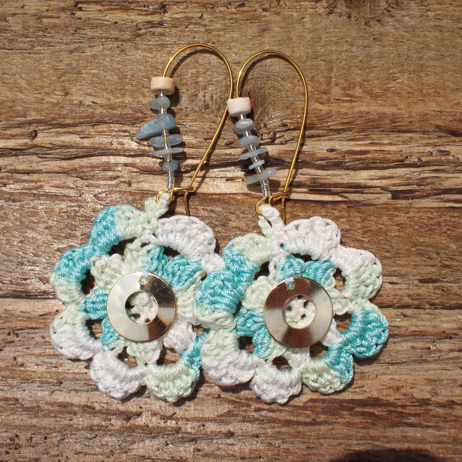 Flower Knit Pierce / Blue