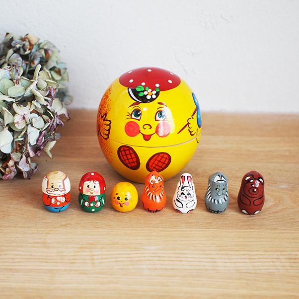 【ロシア】 指人形セット ロシアの物語 「おだんごぱん」