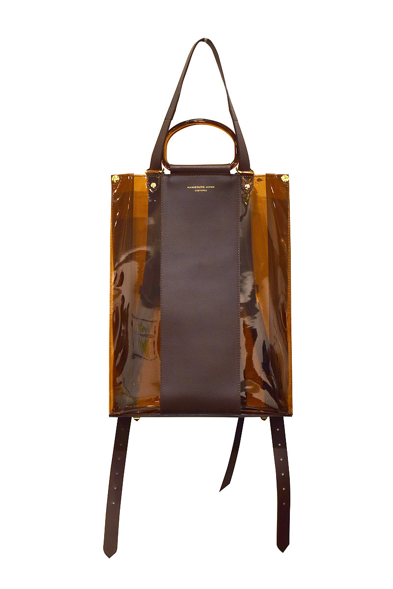 Mannequins JAPON / PVC×LEATHER 3WAY TOTE 縦 / AMBER