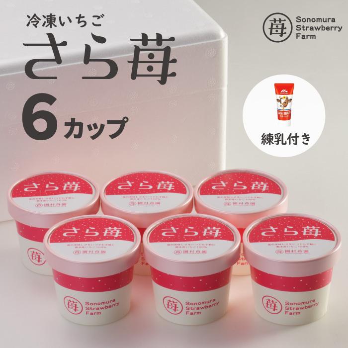 完熟冷凍いちご「さら苺」50g×6カップ 練乳付き