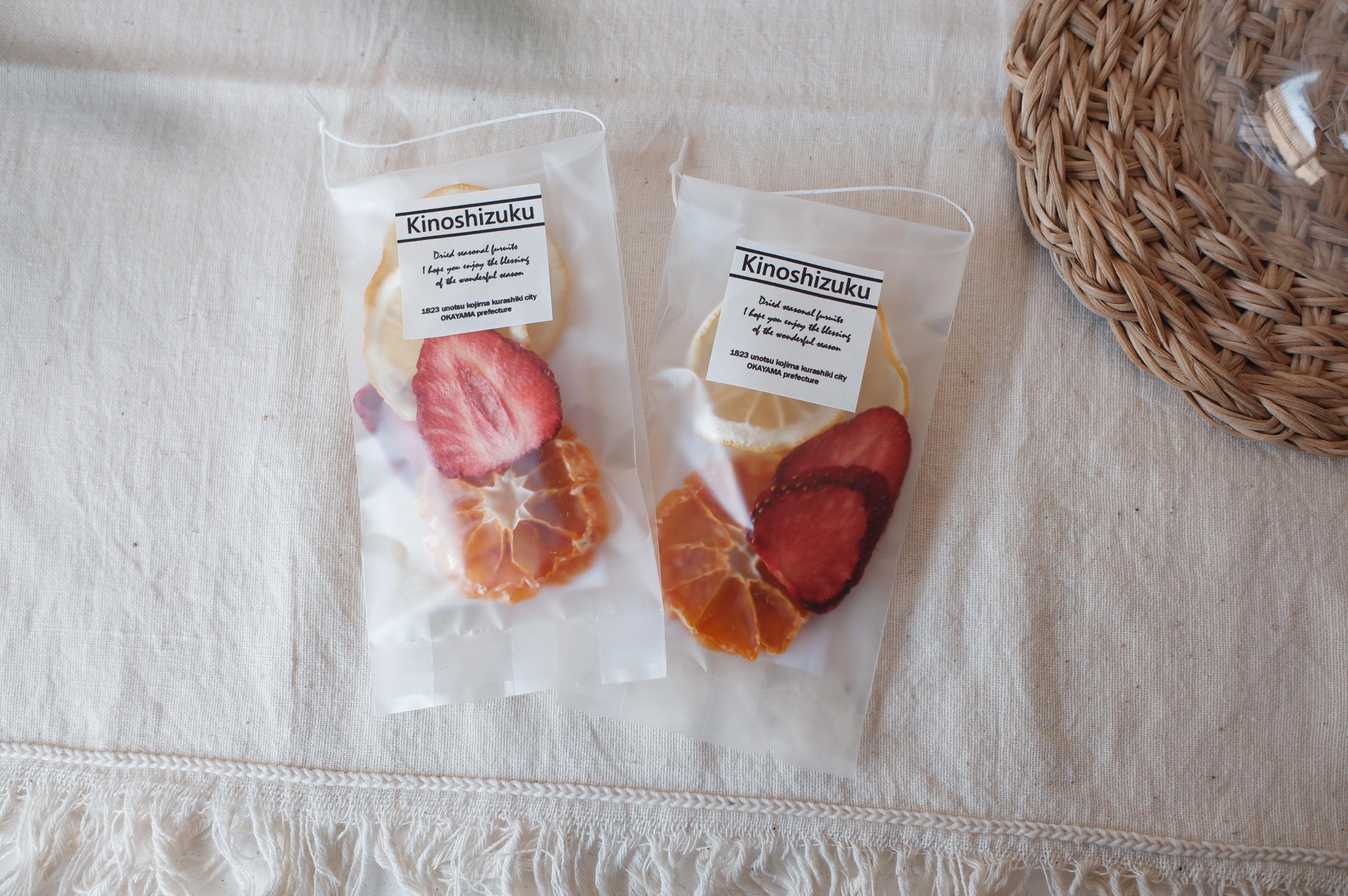木の雫 こだわりのドライフルーツ ミニパック 〈 ミカン・イチゴ・レモン〉