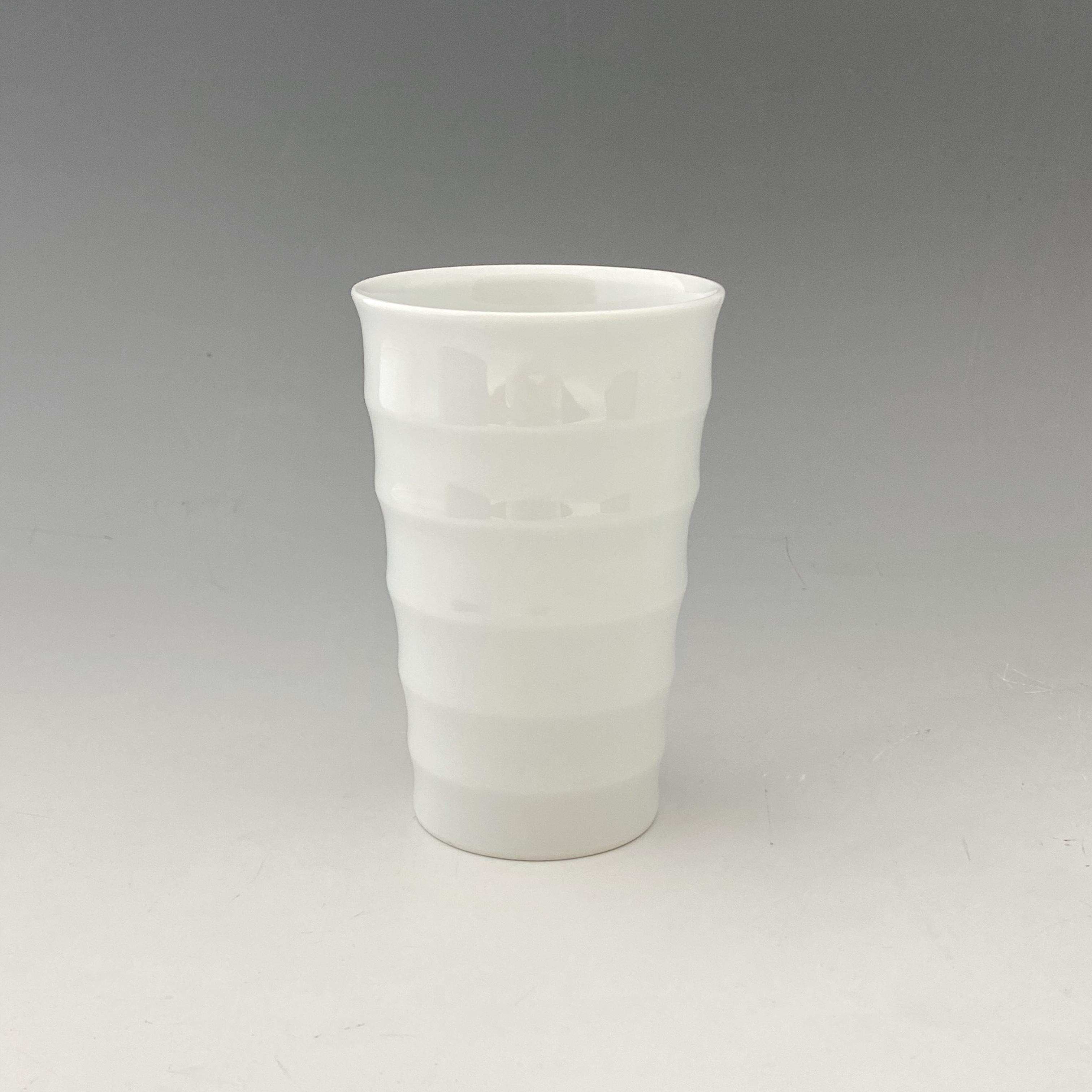 【中尾恭純】白磁線段フリーカップ