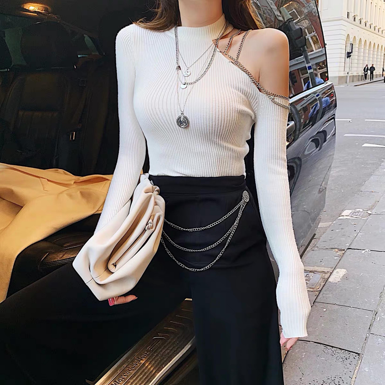 one shoulder cut tops