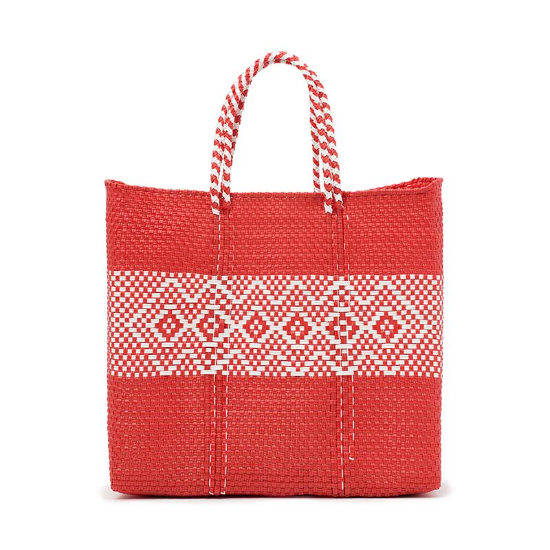 MERCADO BAG DIAMOND LINE-Red (M)