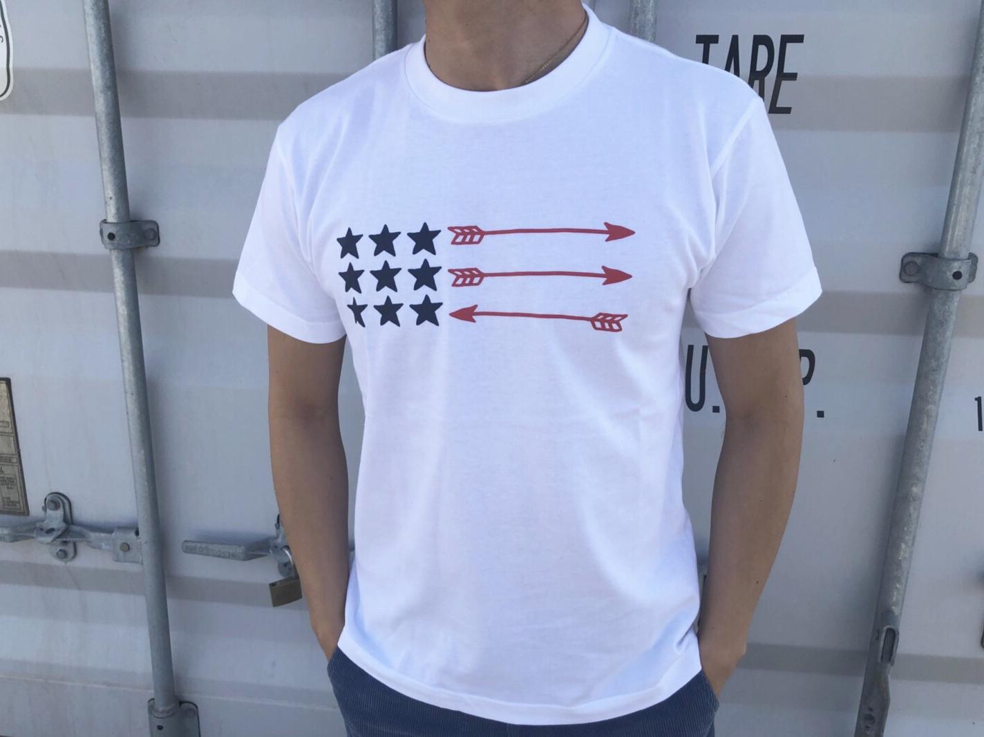 【Fine7月号掲載】USA ArrowFlag Tシャツ(white)