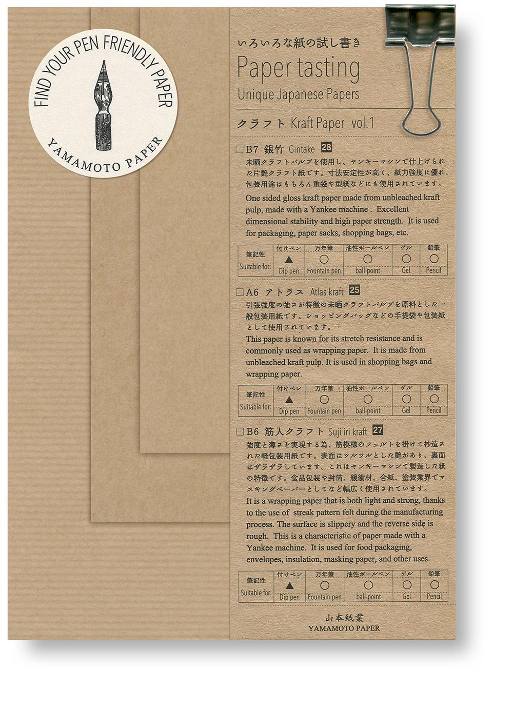 Paper tasting Kraft vol.1