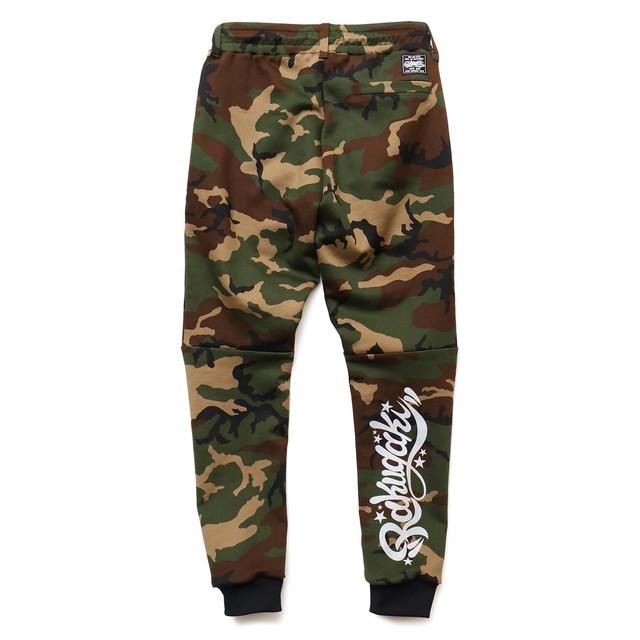 RAKUGAKI Camo Sweat Pants Woodland Camo