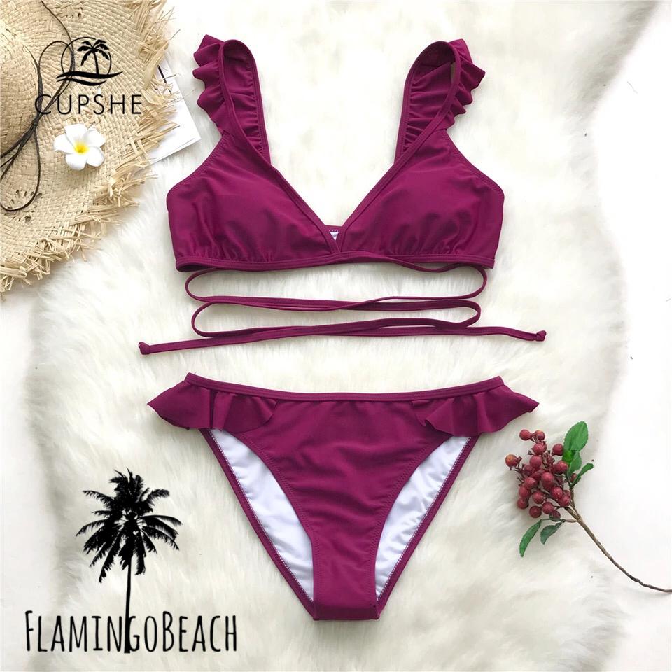 【FlamingoBeach】simple furil bikini ビキニ