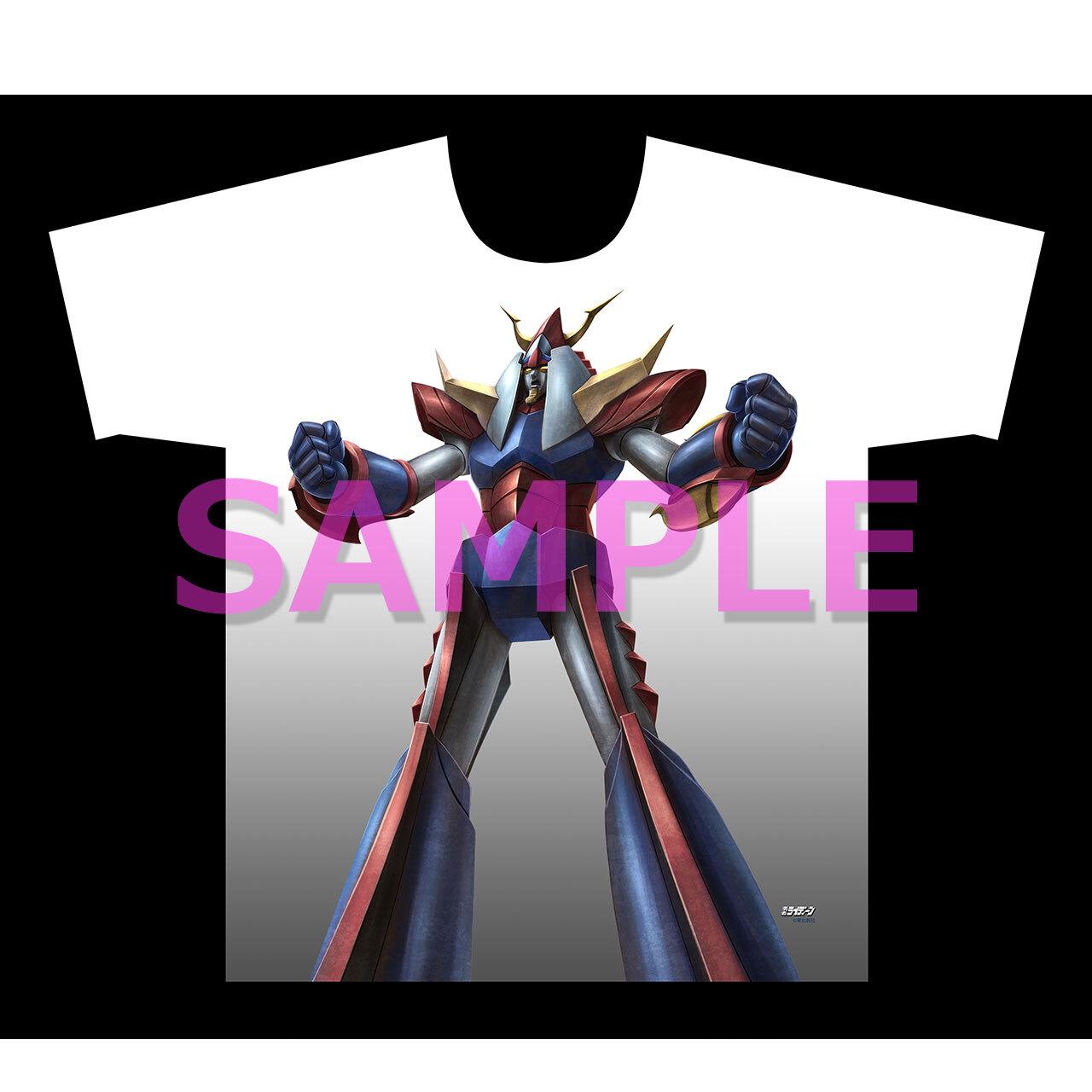 【4589839358651先】勇者ライディーン フルグラフィックTシャツ ライディーン立つ XL