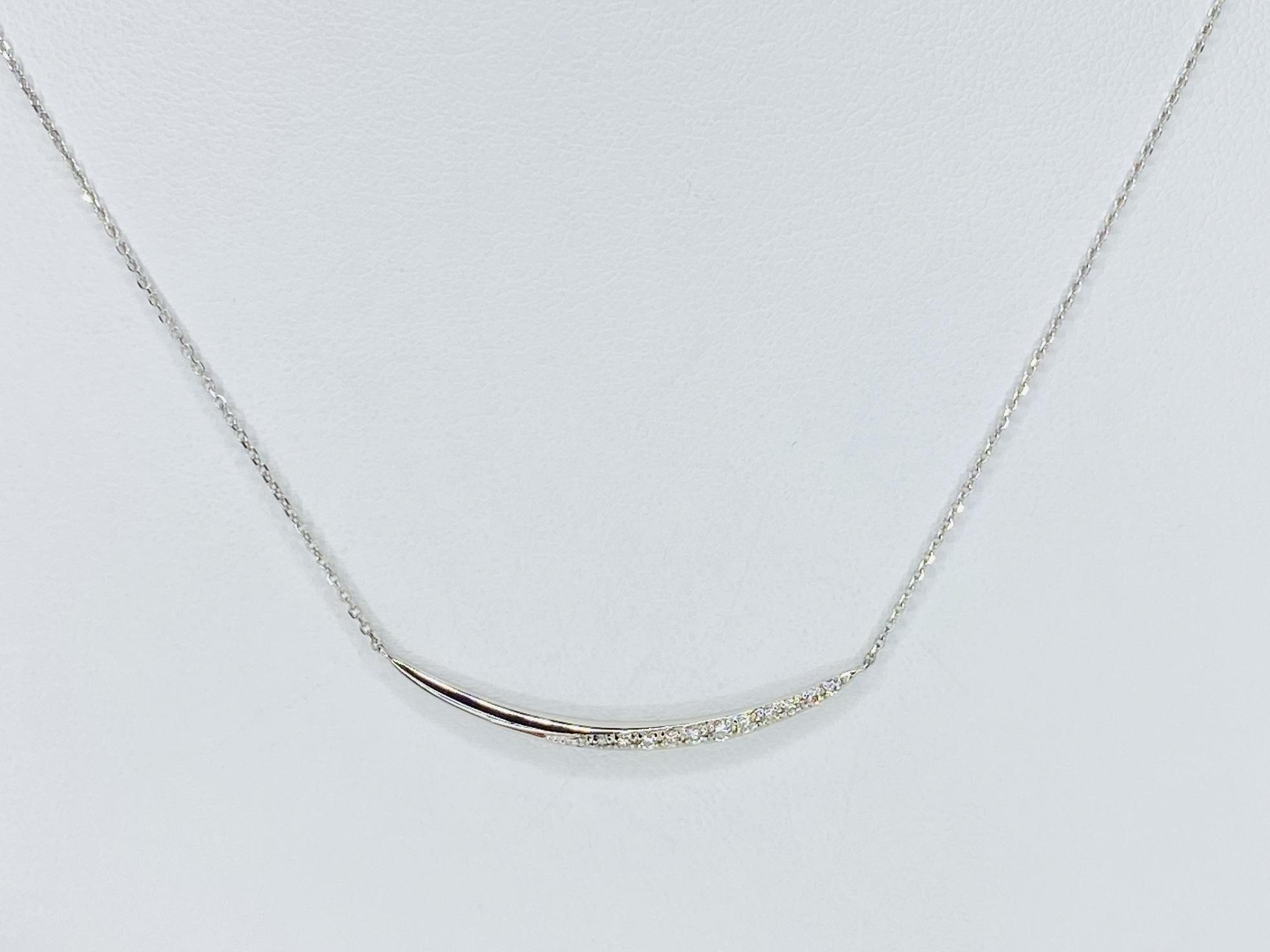 PT 900/850 0.1ct ダイヤモンドネックレス ○