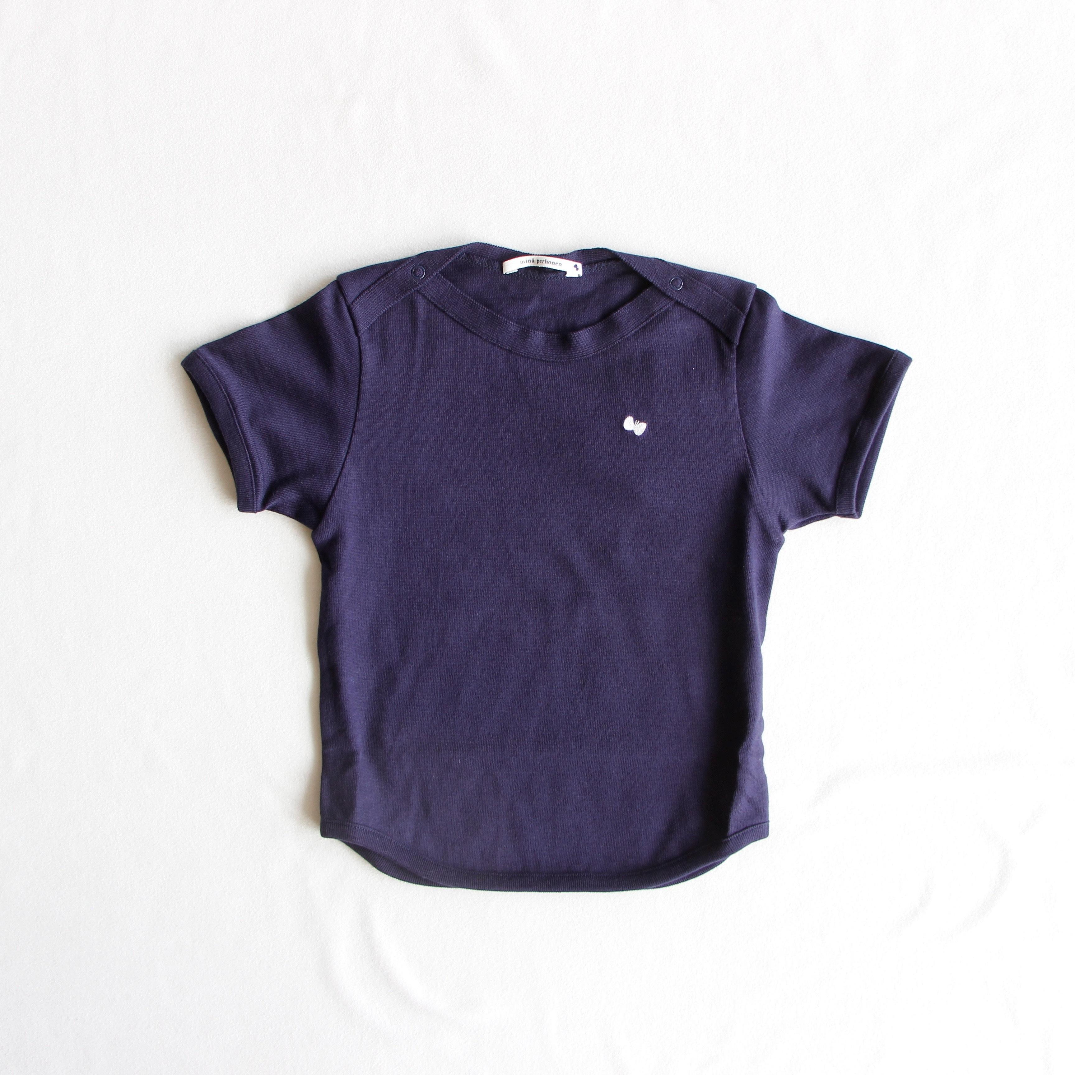 《mina perhonen 2018SS》zutto Tシャツ / navy / 110cm