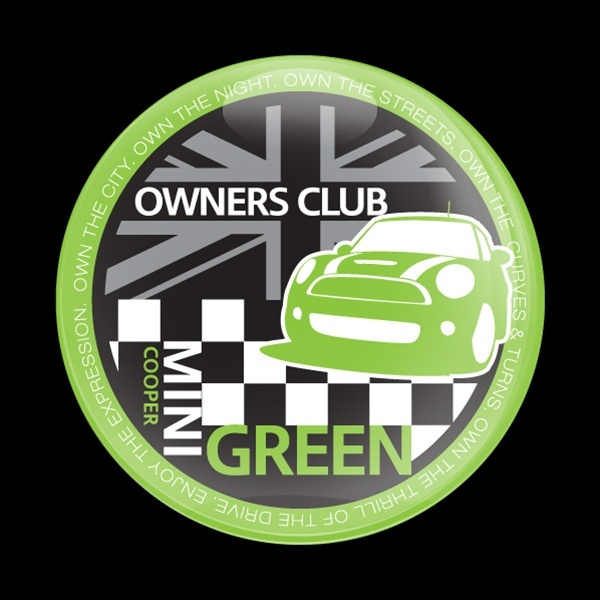 ドームバッジ(CD0378 - MINI OWNERSCLUB GREEN) - 画像1