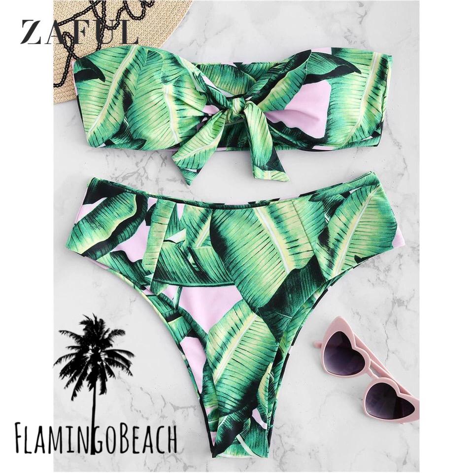 【FlamingoBeach】banana leaf bikini ビキニ
