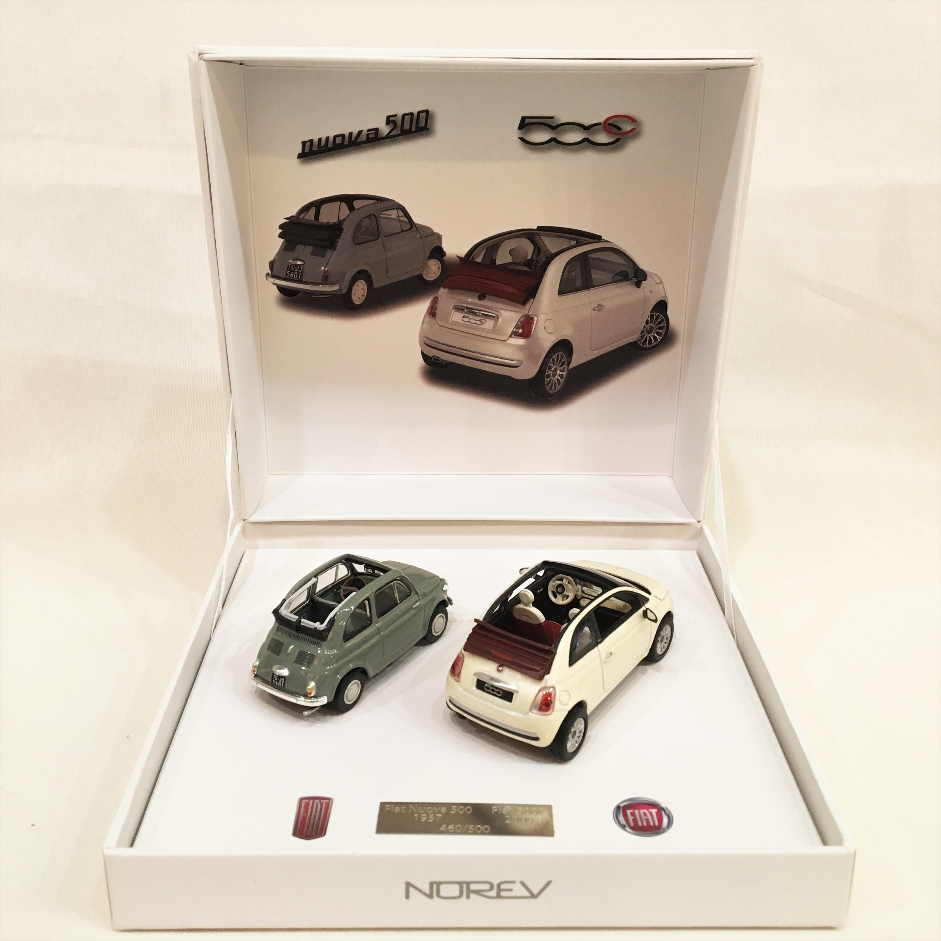 Fiat 500 Decouvrabl e & Fiat 500C 1/43【NOREV】【1個のみ】 【税込価格】