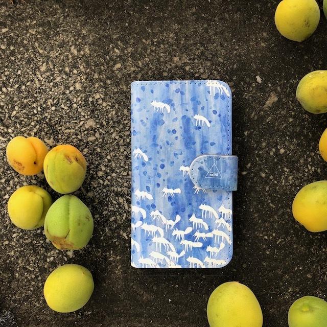 『コヨーテは水の中』マルチ対応手帳型スマホケース「完全オーダー商品」