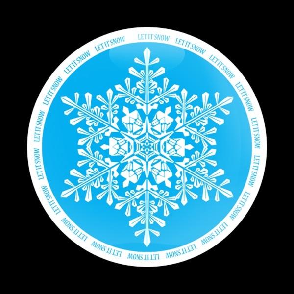 ゴーバッジ(ドーム)(CD0298 - Seasonal LET IT SNOW) - 画像1