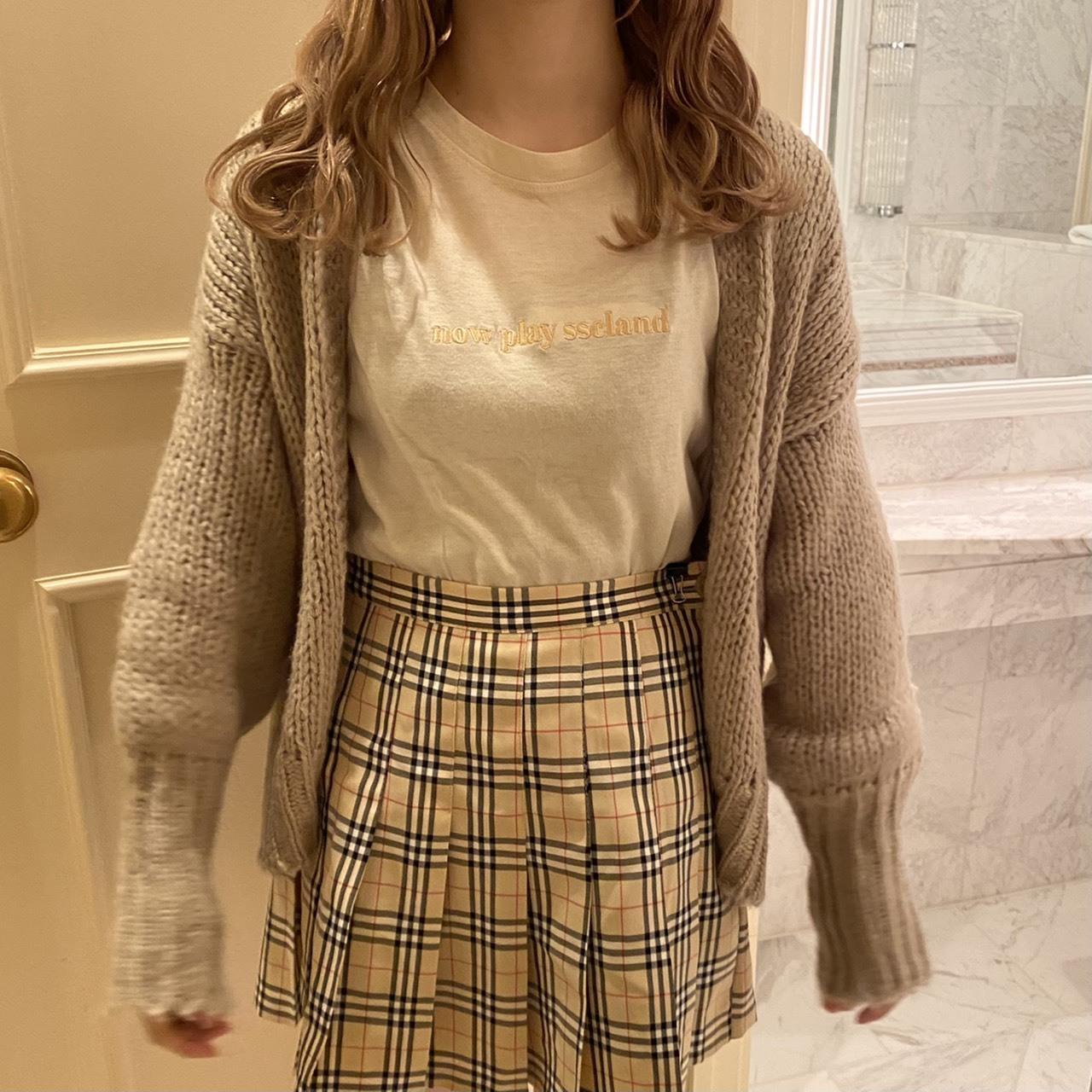 London check mini skirt