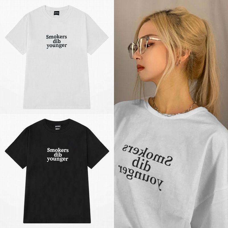 ユニセックス Tシャツ 半袖 メンズ レディース シンプル 英字 プリント オーバーサイズ 大きいサイズ ルーズ ストリート