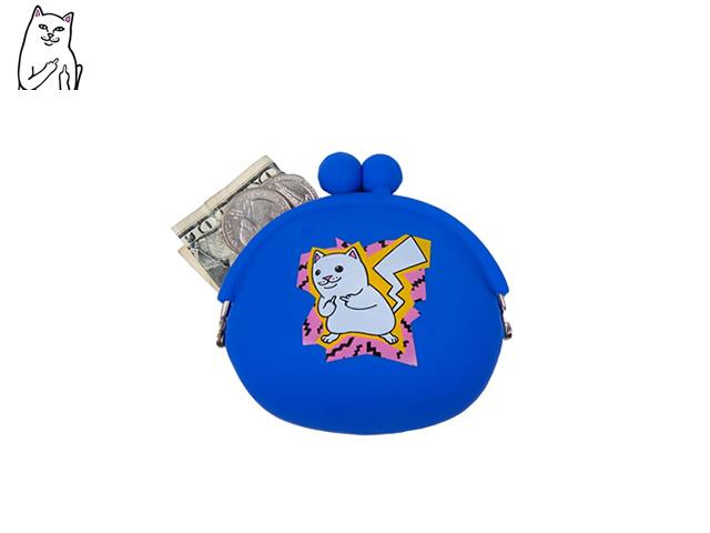RIPNDIP|Catch Em All Rubber Coin Pouch (Blue)
