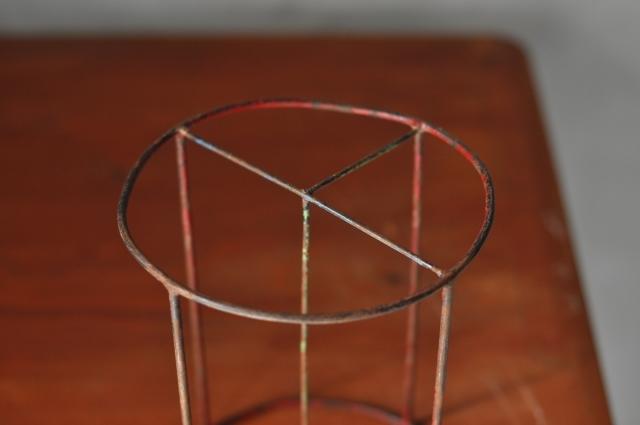 ワイヤー立体図形オブジェ(円柱)
