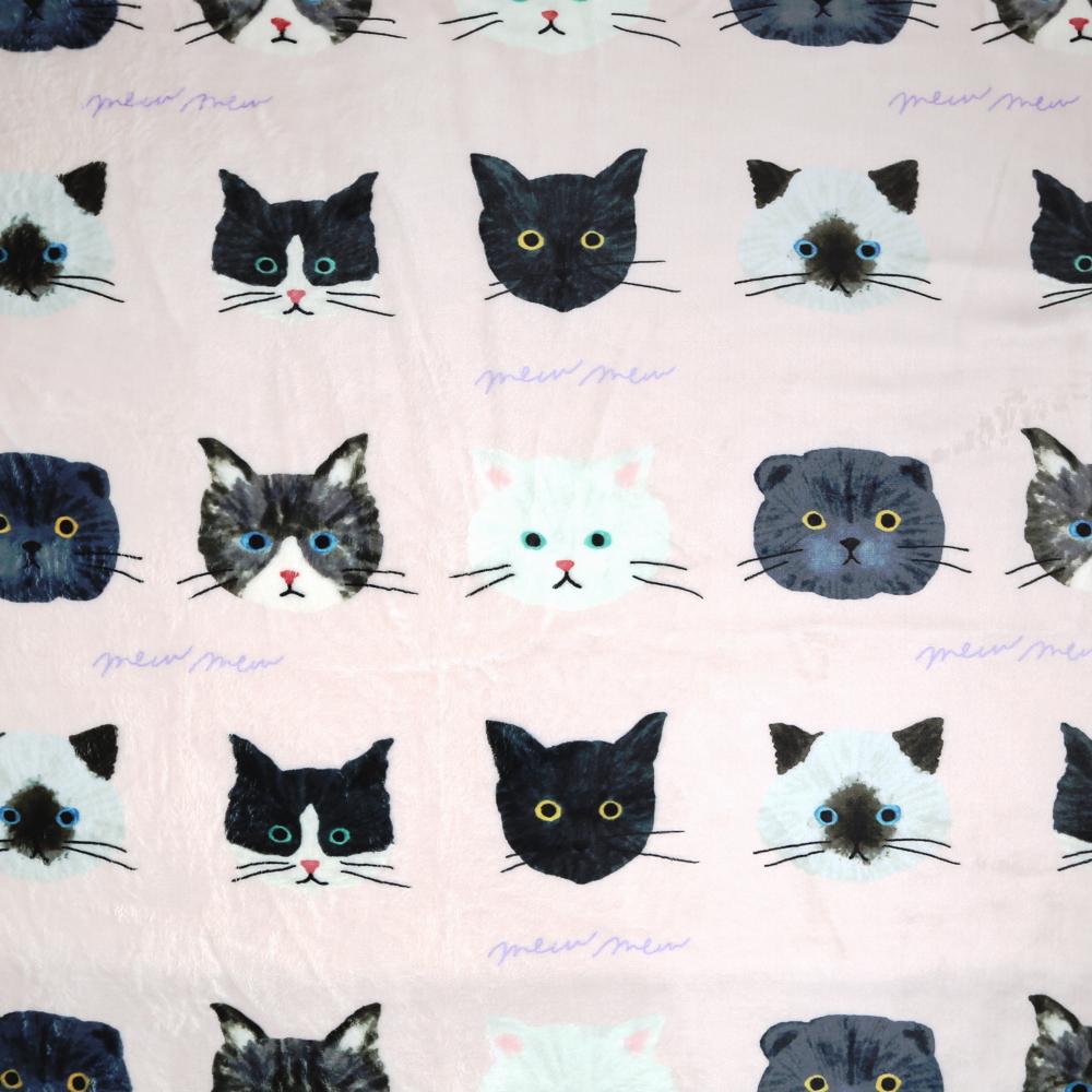 猫ブランケット(ミュウミュウひざ掛け)ピンク