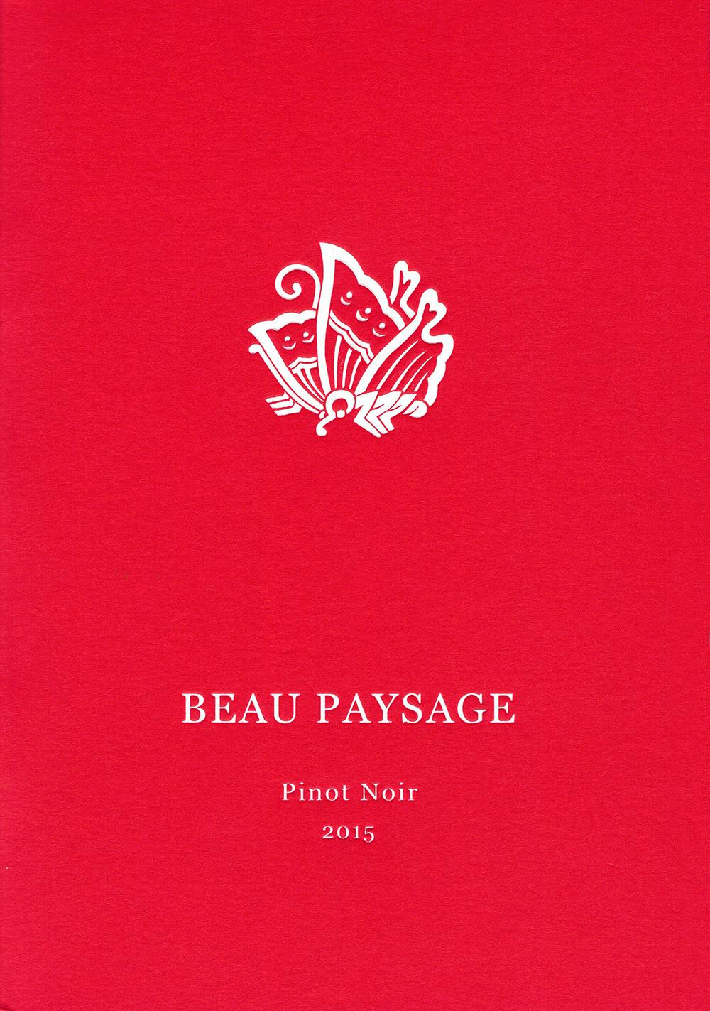 BEAU PAYSAGE Pinot Noir 2015  V.A