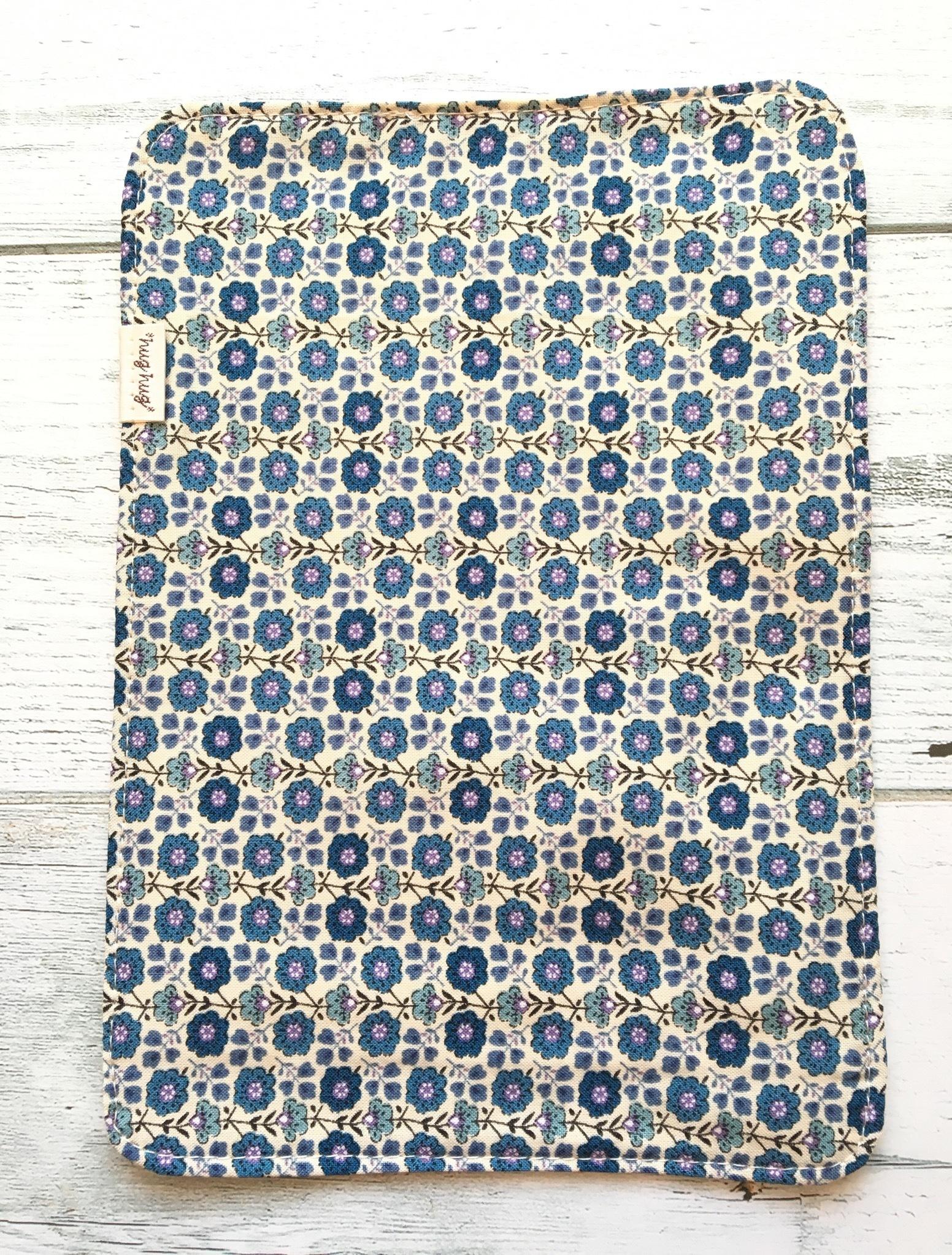 ミニナプキン 小花ブルー