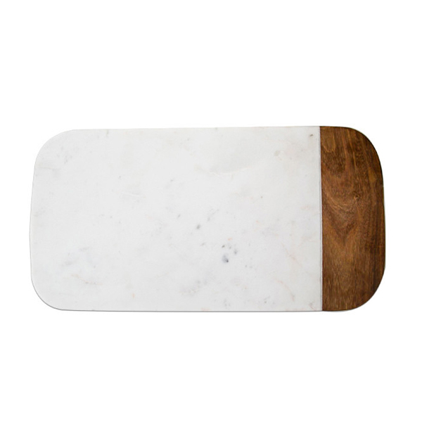 Roost マーブル x ウッドチーズボード 長方形 大小セット