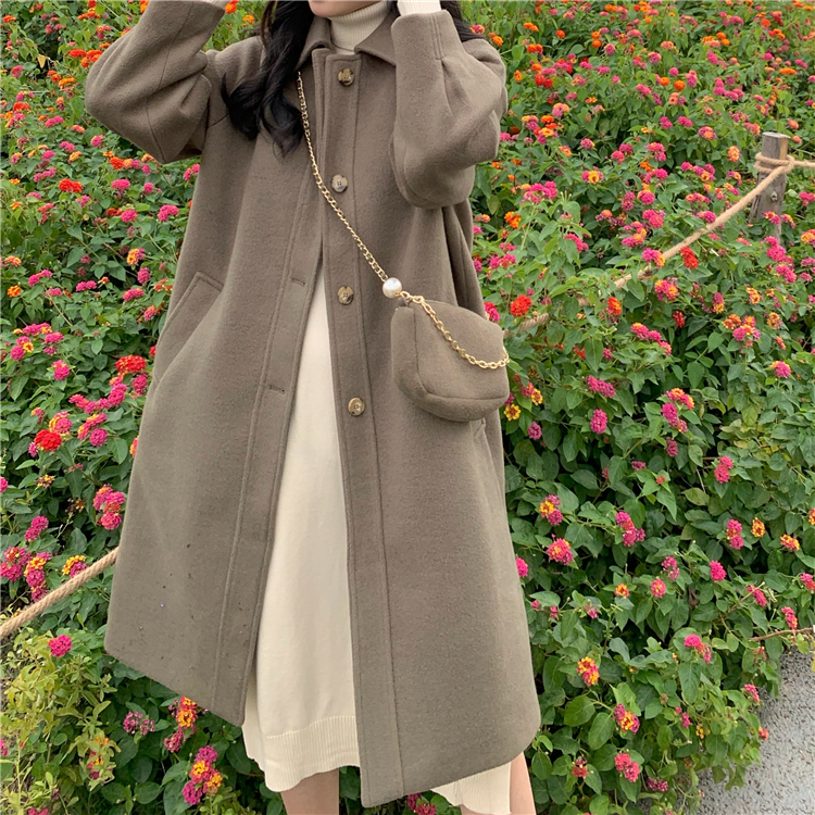〈カフェシリーズ〉春のフレンチウールコート