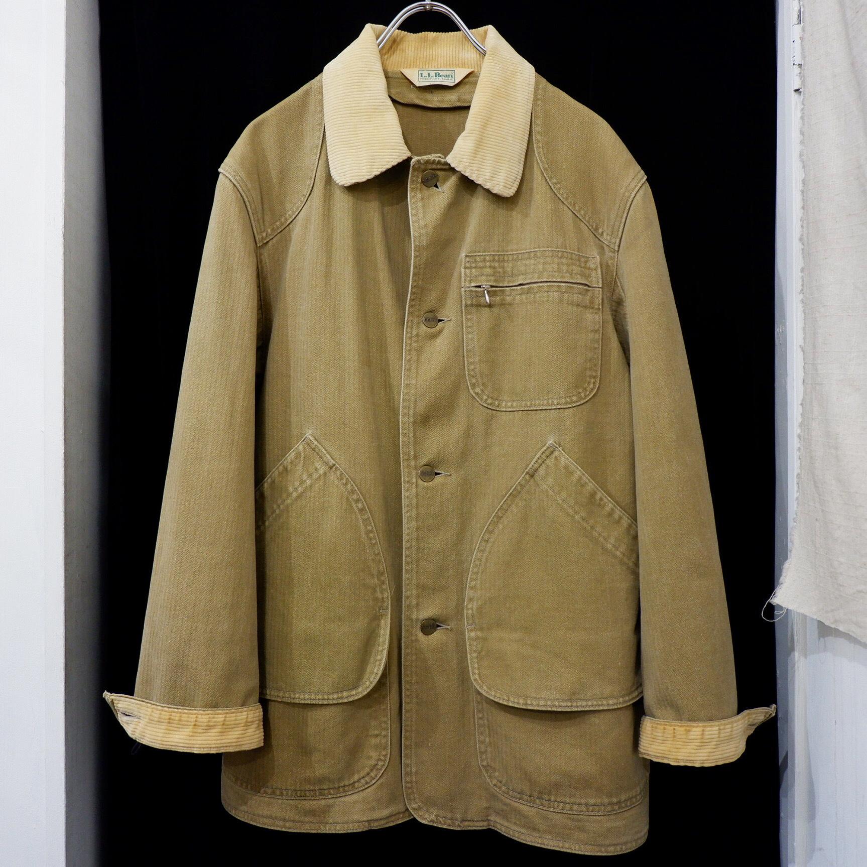 アメリカ古着 1980s L.L.Bean HBT ハンティングジャケット